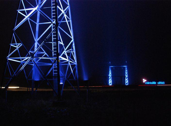 Mäntsälän sähkö, Lahden väylän maamerkki valaistuna